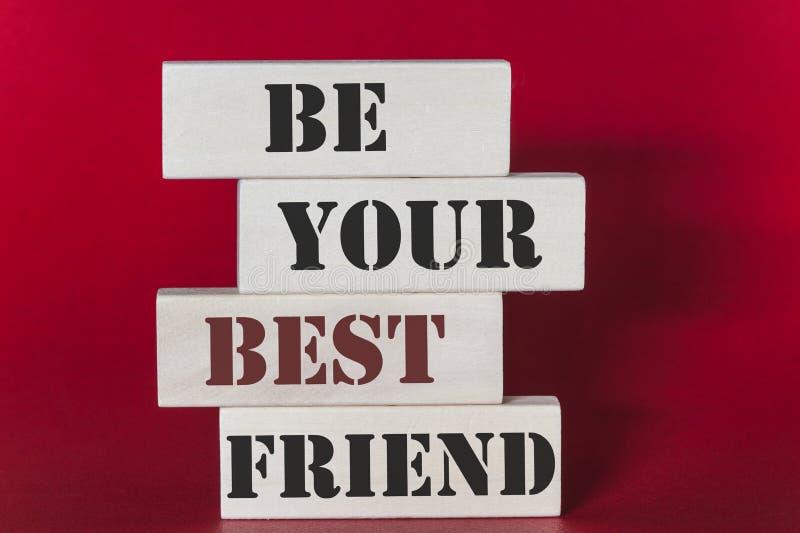 Να είστε το απόσπασμα καλύτερων φίλων σας στοκ φωτογραφία με δικαίωμα ελεύθερης χρήσης