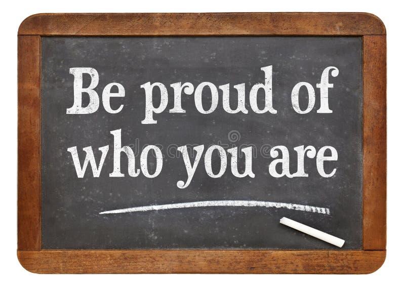 Να είστε υπερήφανος ποιοι είστε στοκ φωτογραφία με δικαίωμα ελεύθερης χρήσης