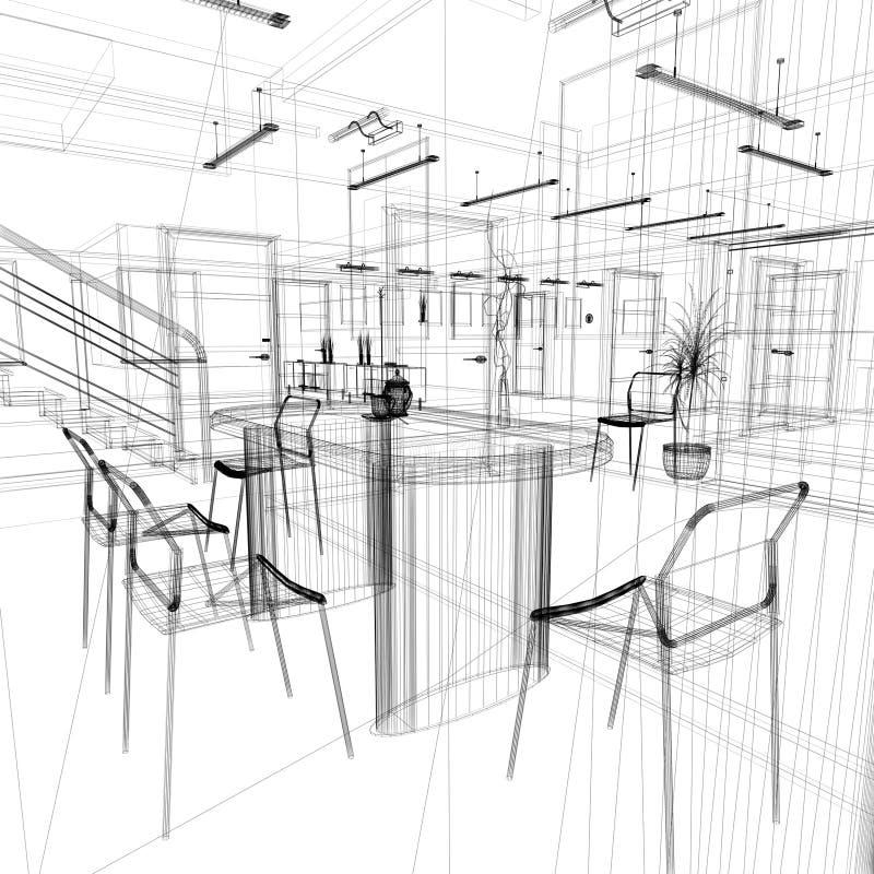 Να δειπνήσει περιοχή σε ένα σύγχρονο γραφείο ελεύθερη απεικόνιση δικαιώματος