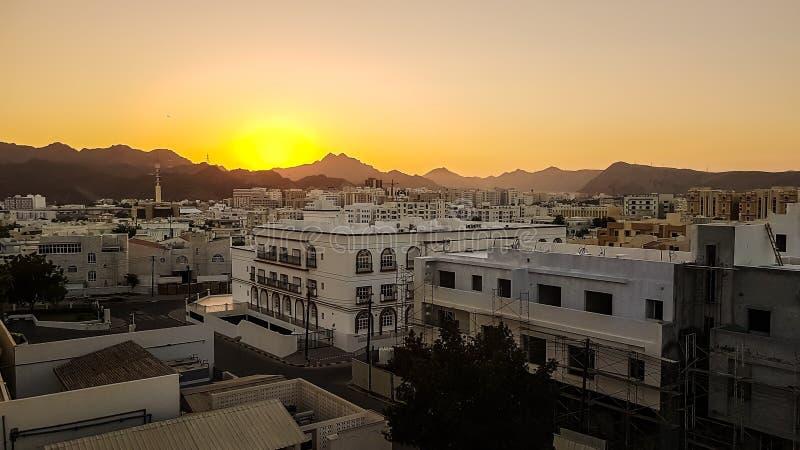 Να ενσωματώσει την παλαιά πόλη Muscat στοκ φωτογραφίες