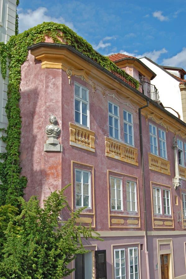 Να ενσωματώσει τον κισσό Οδός Uvoz στην Πράγα στοκ εικόνα με δικαίωμα ελεύθερης χρήσης