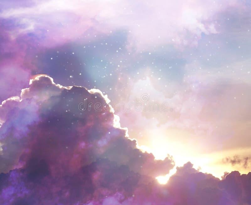 Να εξισώσει το ζωηρόχρωμο ουρανό με τα λάμποντας αστέρια στοκ φωτογραφία με δικαίωμα ελεύθερης χρήσης
