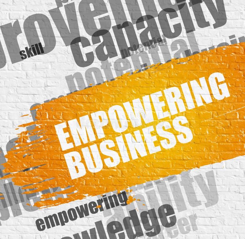 Να εξουσιοδοτήσει την επιχείρηση στο Brickwall διανυσματική απεικόνιση