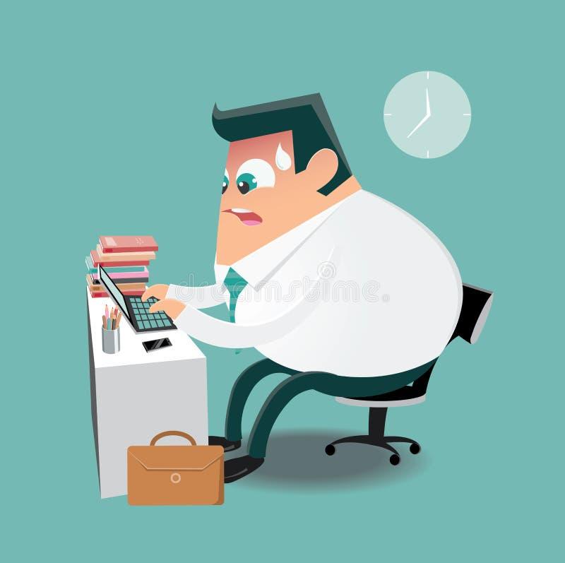 Να εργαστεί σκληρά στο γραφείο απεικόνιση αποθεμάτων