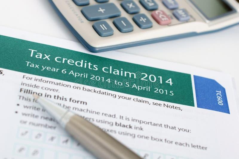 Να ισχύσει για τη χρέωση φόρου εργασίας στοκ φωτογραφία