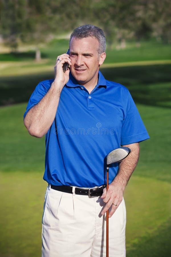Να κάνει επιχειρήσεις στο γήπεδο του γκολφ στοκ φωτογραφία