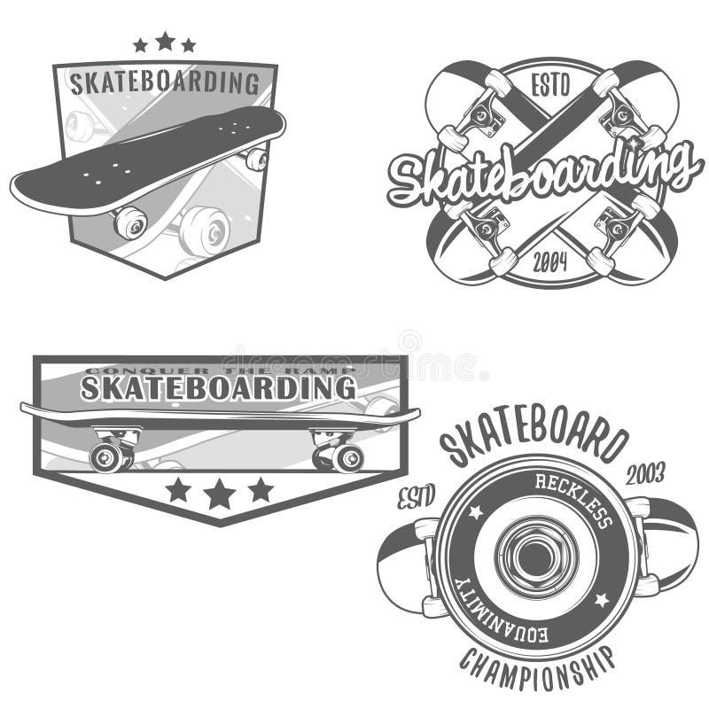 Να κάνει σκέιτ μπορντ τον τρύγο logotypes διανυσματική απεικόνιση