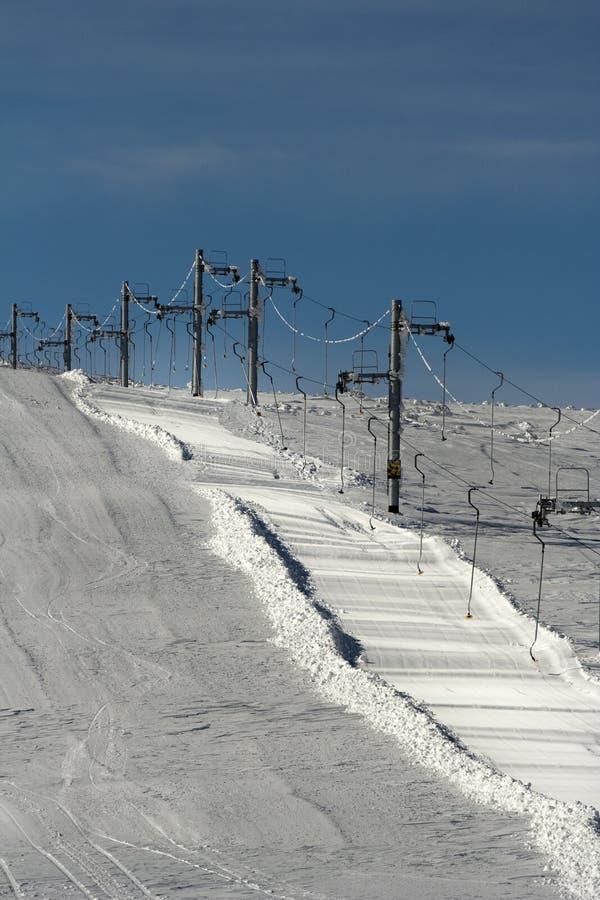 να κάνει σκι ανελκυστήρω στοκ εικόνα