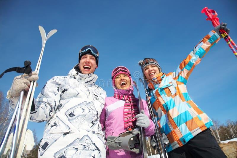 να κάνει σκι ανθρώπων στοκ εικόνα