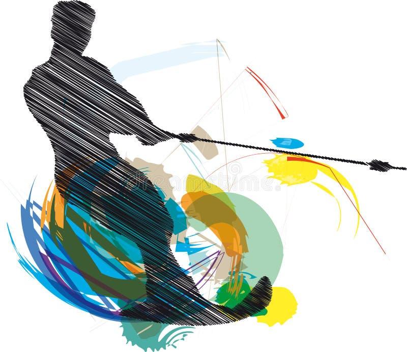να κάνει σκι ατόμων απεικόν&i διανυσματική απεικόνιση