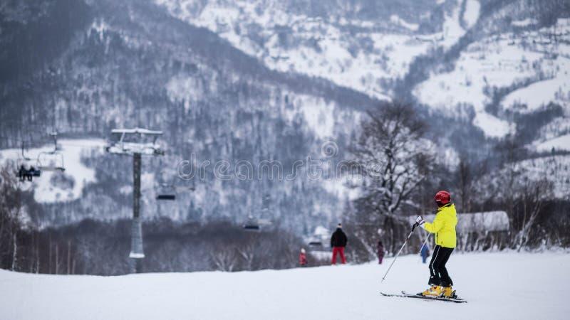 να κάνει σκι βουνών στοκ φωτογραφία με δικαίωμα ελεύθερης χρήσης