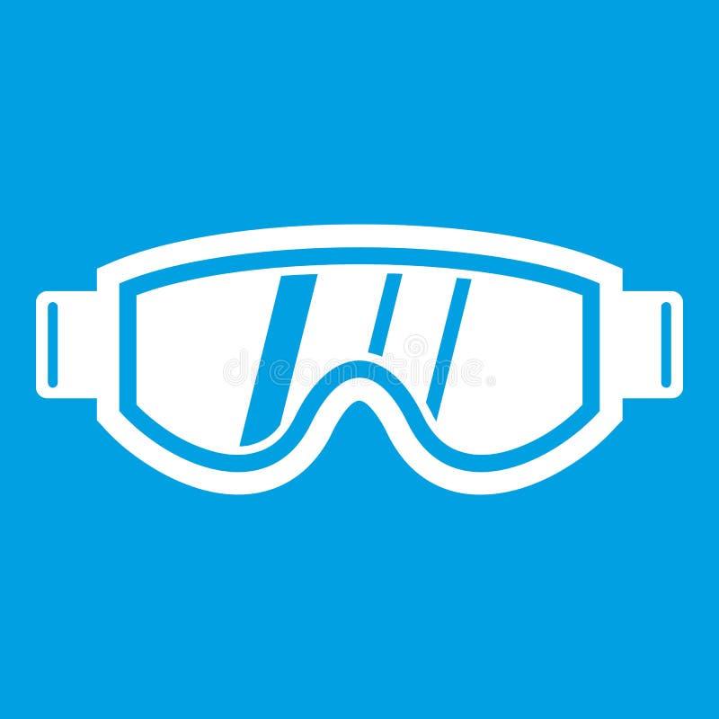 Να κάνει σκι λευκό εικονιδίων μασκών διανυσματική απεικόνιση