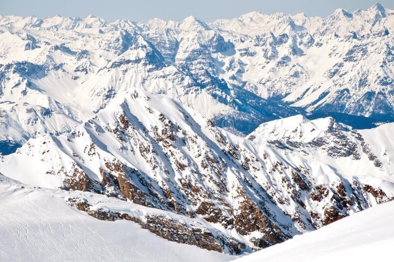 να κάνει σκι θερέτρου ορών κλίσεις στοκ φωτογραφία