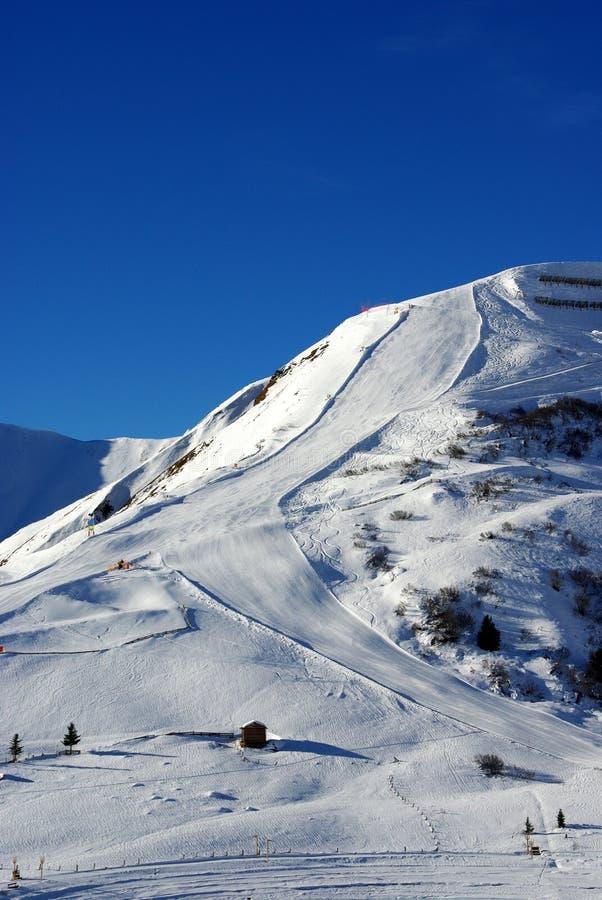 να κάνει σκι κλίση στοκ εικόνα