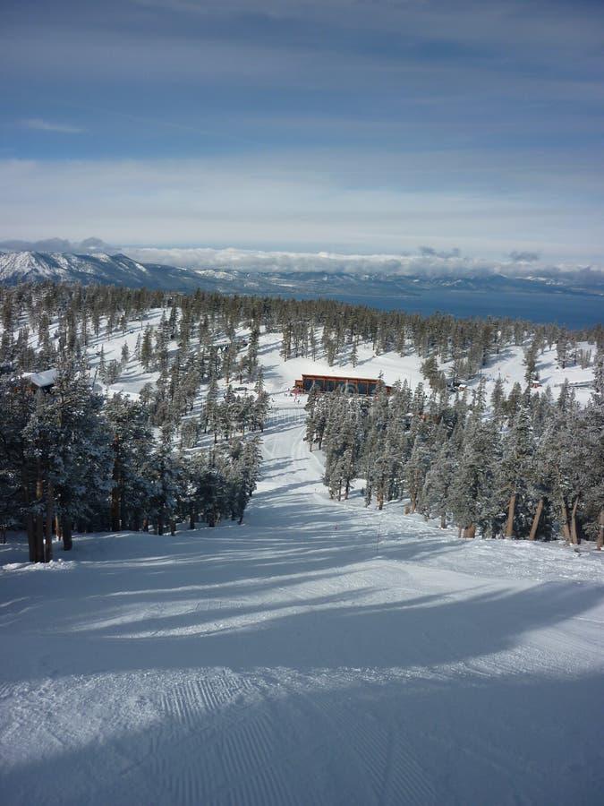 Να κάνει σκι στη λίμνη Tahoe στοκ φωτογραφία με δικαίωμα ελεύθερης χρήσης