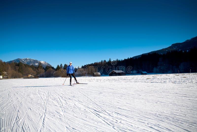 Να κάνει σκι στις Άλπεις στοκ φωτογραφία με δικαίωμα ελεύθερης χρήσης