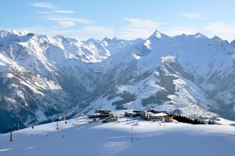 Να κάνει σκι στις αυστριακές Άλπεις στοκ εικόνες με δικαίωμα ελεύθερης χρήσης