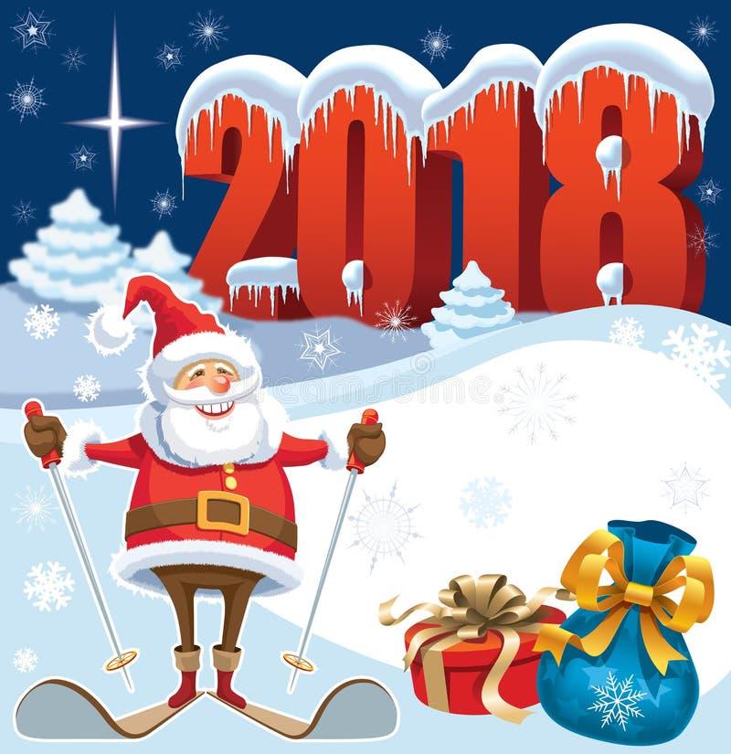 να κάνει σκι santa Claus απεικόνιση αποθεμάτων