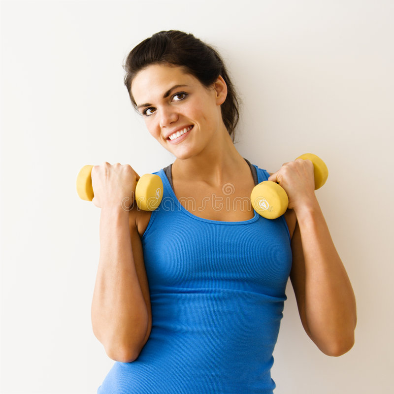 να κάνει τη γυναίκα workout στοκ φωτογραφία με δικαίωμα ελεύθερης χρήσης