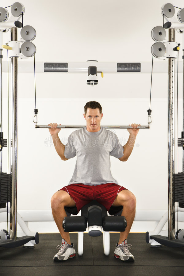 να κάνει το άτομο workout στοκ φωτογραφία με δικαίωμα ελεύθερης χρήσης