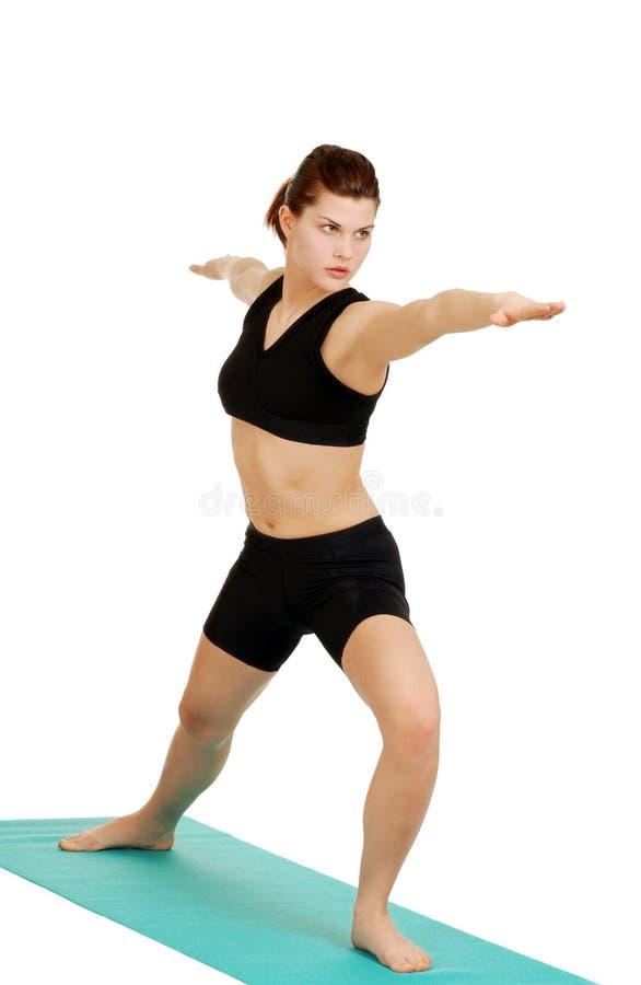 να κάνει pilates τις νεολαίες &gamma στοκ φωτογραφία