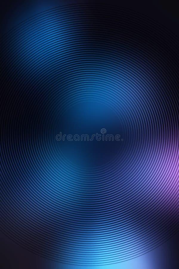 Το ακτινωτό υπόβαθρο κλίσης, μπλε ουρανός, θολώνει την ομαλή μαλακή περίληψη ταπετσαριών σύστασης Να καεί βαθιά απεικόνιση αποθεμάτων
