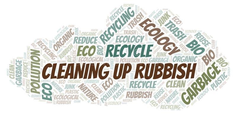 Να καθαρίσει επάνω το σύννεφο λέξης σκουπιδιών απεικόνιση αποθεμάτων