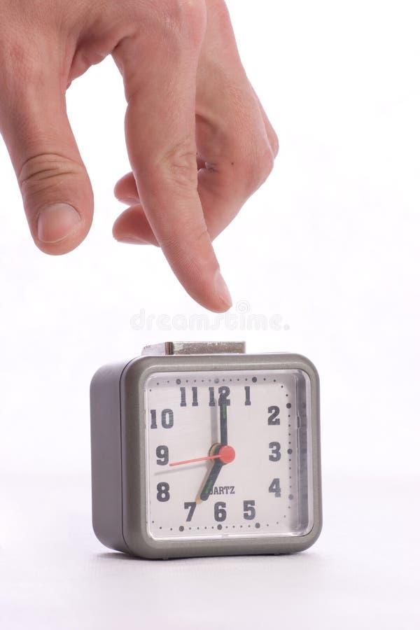 Να κλείσει το συναγερμό στο ρολόι συναγερμών στοκ εικόνες με δικαίωμα ελεύθερης χρήσης