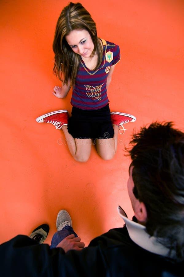 να κουβεντιάσει Teens Στοκ Φωτογραφία