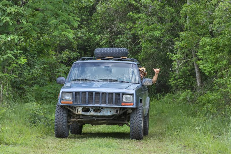 Να κρεμάσει χαλαρά διώχνοντας το δρόμο στη ζούγκλα στοκ εικόνα με δικαίωμα ελεύθερης χρήσης