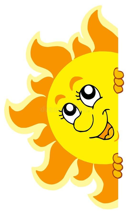 να κρυφτεί τον ήλιο Στοκ Εικόνες