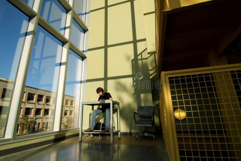 Να μελετήσει μόνο στο stairwell στοκ εικόνα