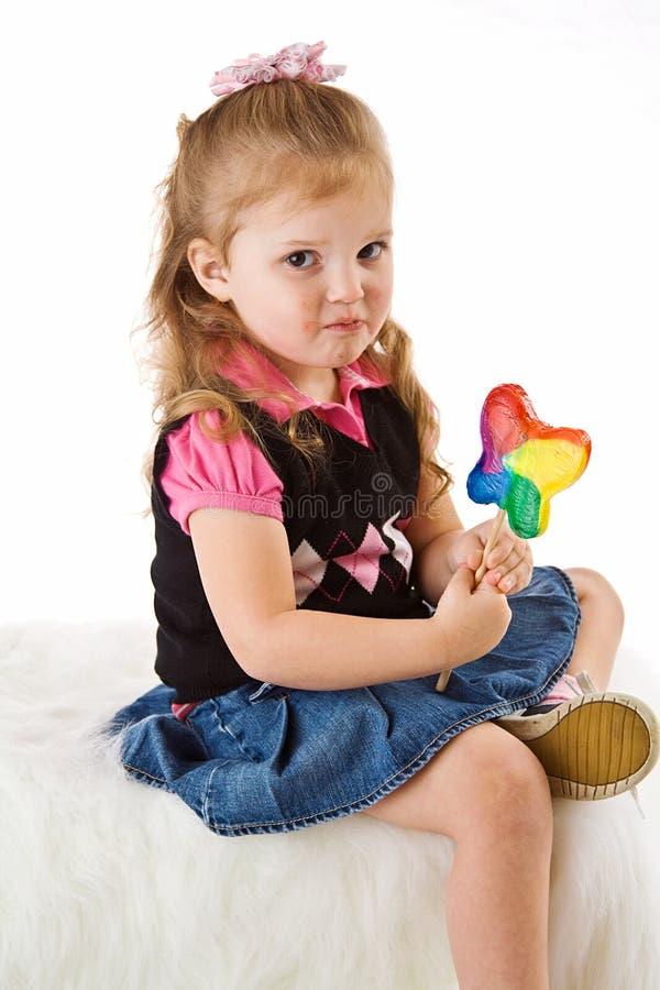 να μουτρώσει παιδιών sucker στοκ φωτογραφία με δικαίωμα ελεύθερης χρήσης