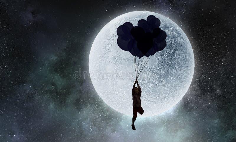 Να ονειρευτεί αγοριών παιδιών Μικτά μέσα στοκ φωτογραφία
