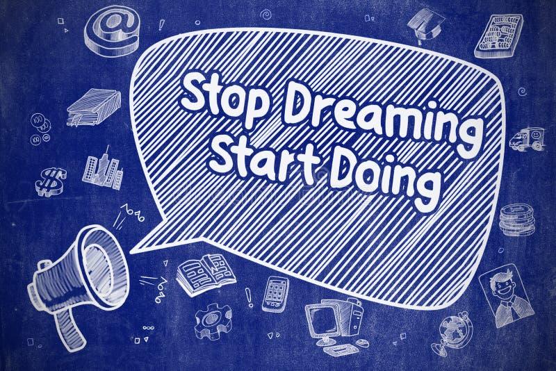 Να ονειρευτεί στάσεων να κάνει έναρξης - επιχειρησιακή έννοια ελεύθερη απεικόνιση δικαιώματος