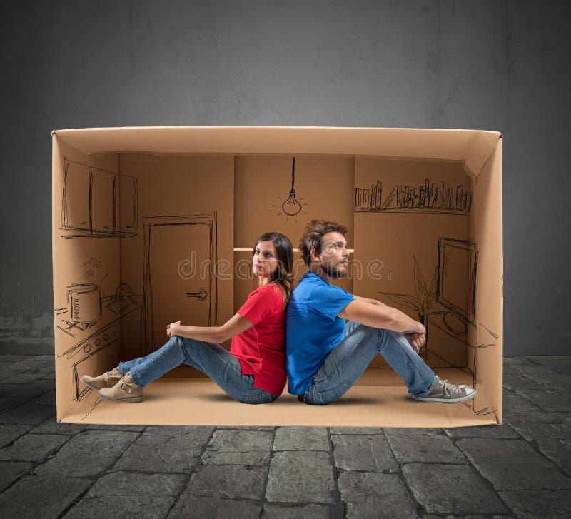 Να ονειρευτεί το μελλοντικό σπίτι στοκ φωτογραφία