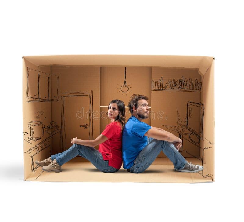 Να ονειρευτεί το μελλοντικό σπίτι στοκ εικόνες