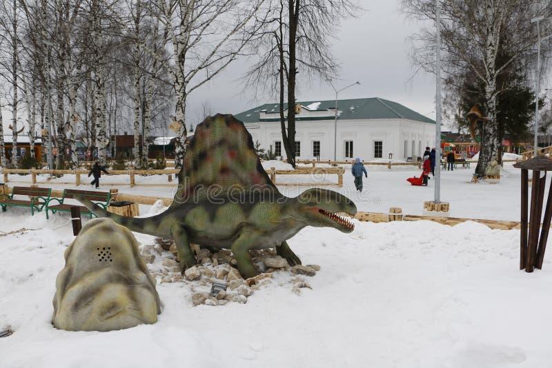 Να πάρει το αρχισμένο πάρκο Yurkin πάρκων δεινοσαύρων στοκ φωτογραφία