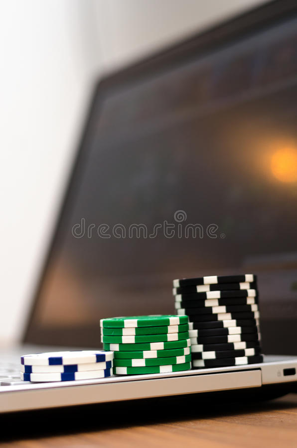 να παίξει on-line στοκ φωτογραφία