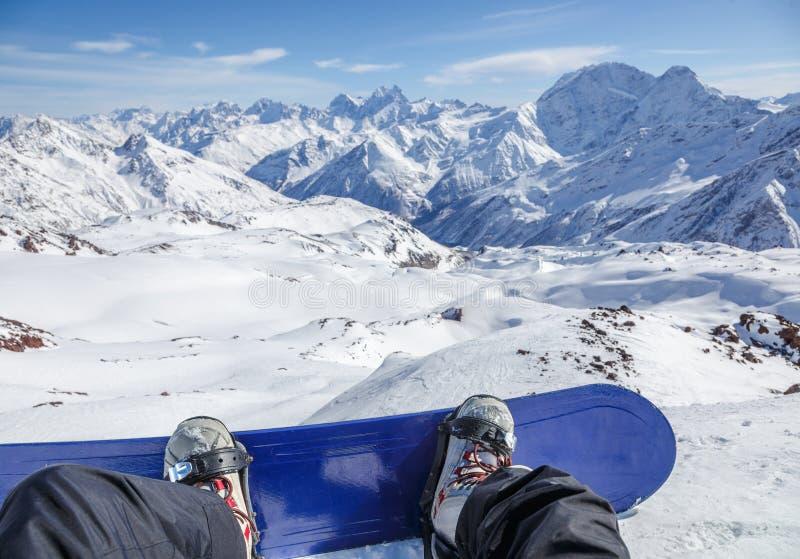 Να προετοιμαστεί για έναν γύρο από Elbrus στοκ εικόνες