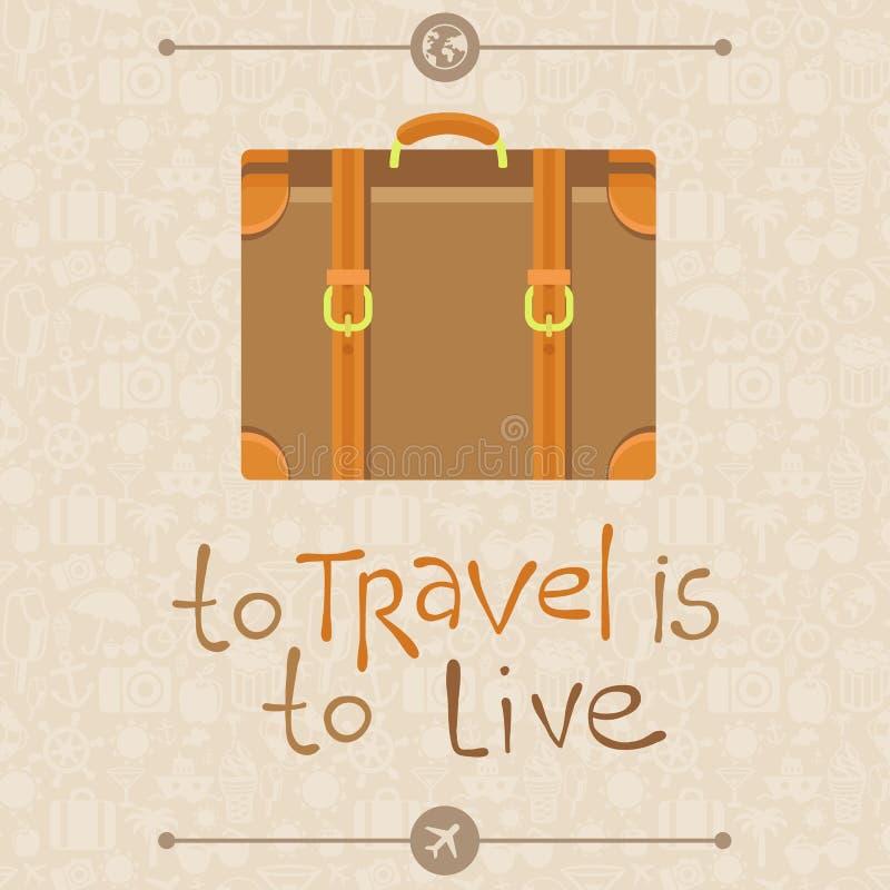 Να ταξιδεψει πρόκειται να ζήσει απεικόνιση αποθεμάτων