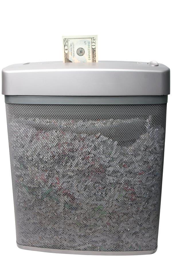 να τεμαχίσει χρημάτων στοκ φωτογραφία