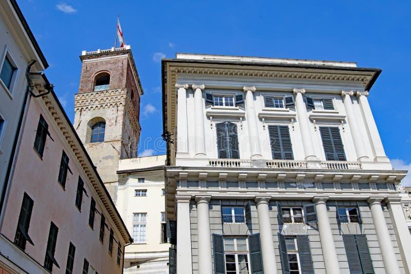 Να φέρει τη σημαία της Γένοβας στη Γένοβα, Ιταλία σε Πάσχα 2019 στοκ φωτογραφία με δικαίωμα ελεύθερης χρήσης