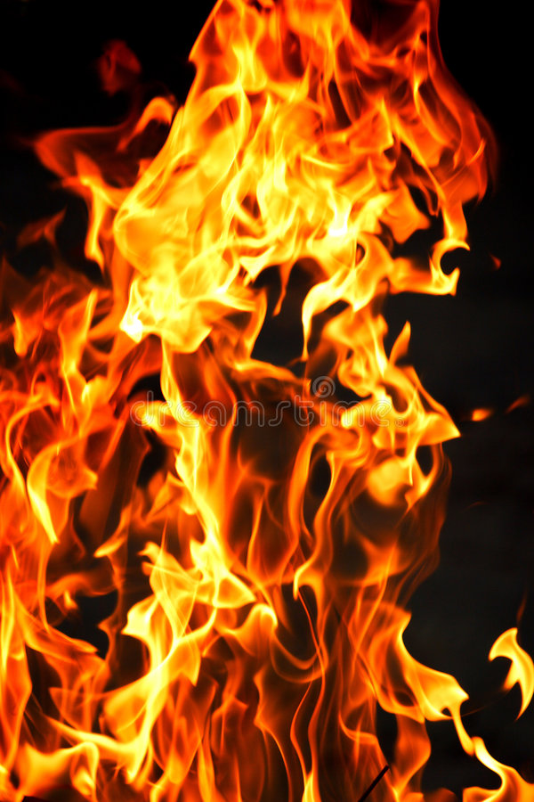 να φλεθεί πυρκαγιάς στοκ εικόνα