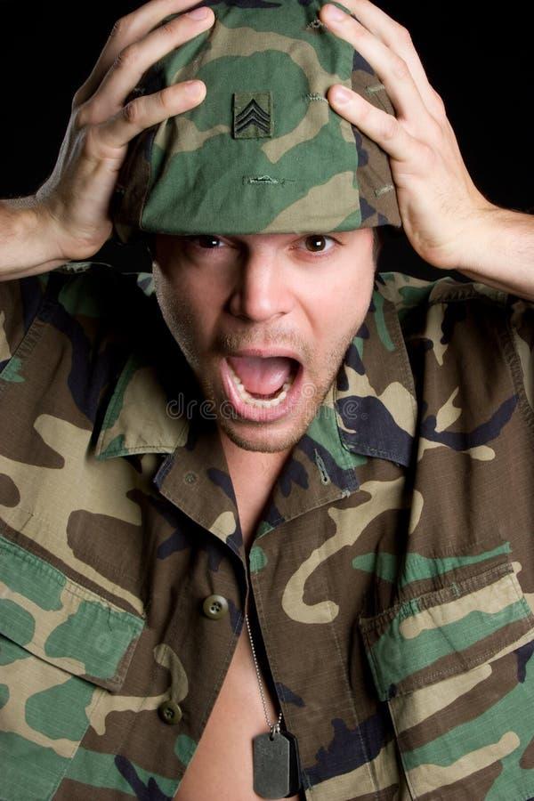 να φωνάξει στρατιωτών στοκ εικόνα με δικαίωμα ελεύθερης χρήσης