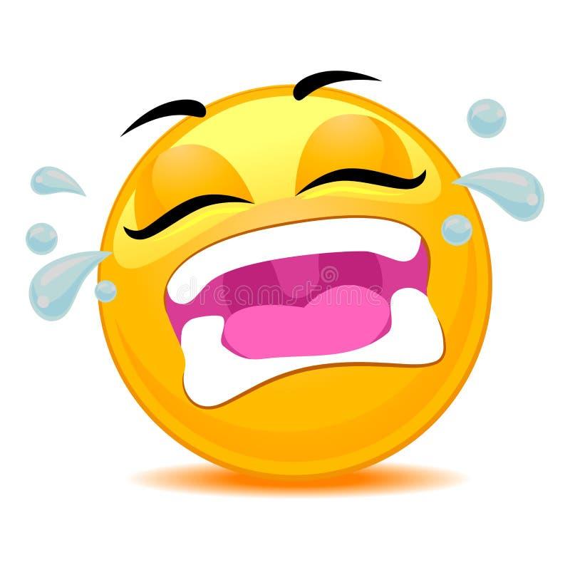 Να φωνάξει Emoticon Smiley έξω δυνατό απεικόνιση αποθεμάτων