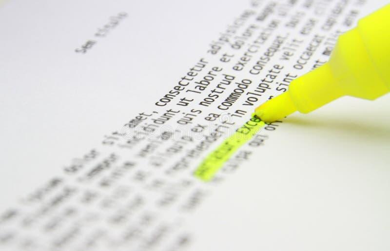 Να δώσει έμφαση στη μελέτη κειμένων στοκ φωτογραφία με δικαίωμα ελεύθερης χρήσης