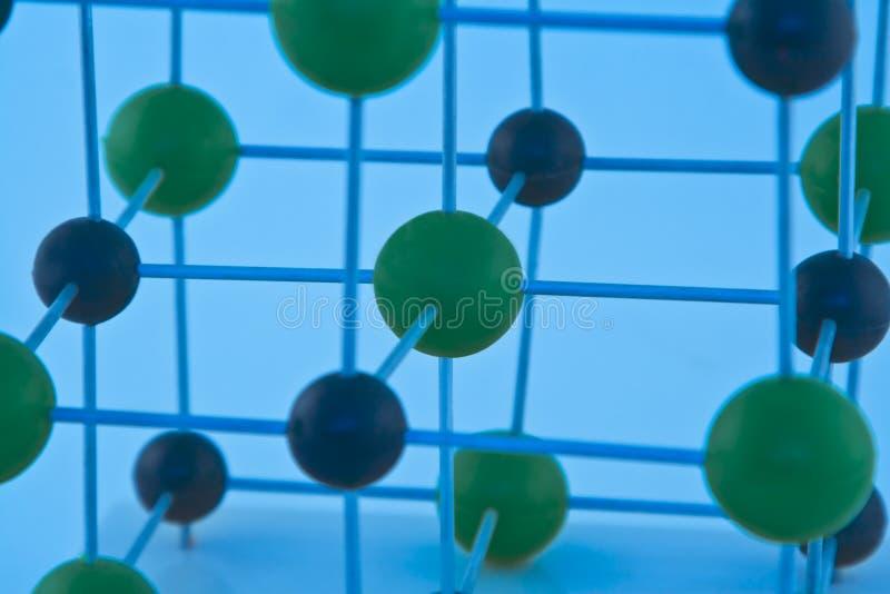 ΝαCl μορίων λεπτομέρειας στοκ φωτογραφία με δικαίωμα ελεύθερης χρήσης