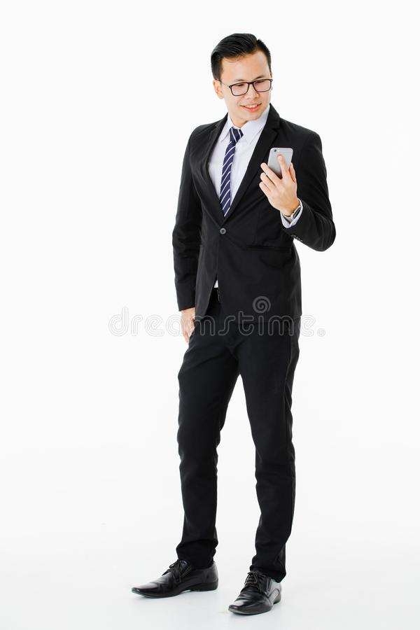 Νεαρός άνδρας στο απομονωμένο άσπρο υπόβαθρο στοκ φωτογραφία με δικαίωμα ελεύθερης χρήσης