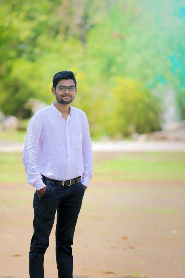 Νεαρός άνδρας, σπουδαστής κολάζ στοκ φωτογραφία